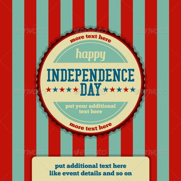 GraphicRiver Independence Day Event Stamp Background 4929864