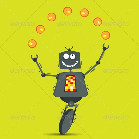 GraphicRiver Juggling Robot 4929869