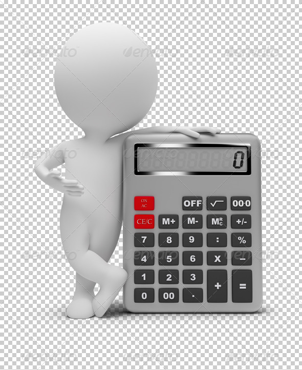 GraphicRiver 3D small people calculator 4929970