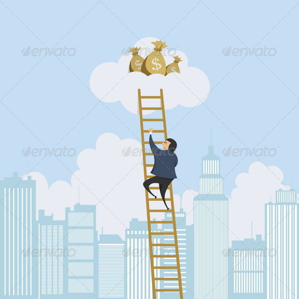 GraphicRiver Scaling Ladder to the Money 4929971
