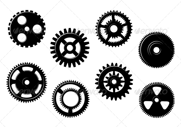 GraphicRiver Set of Gears and Pinions 4930197