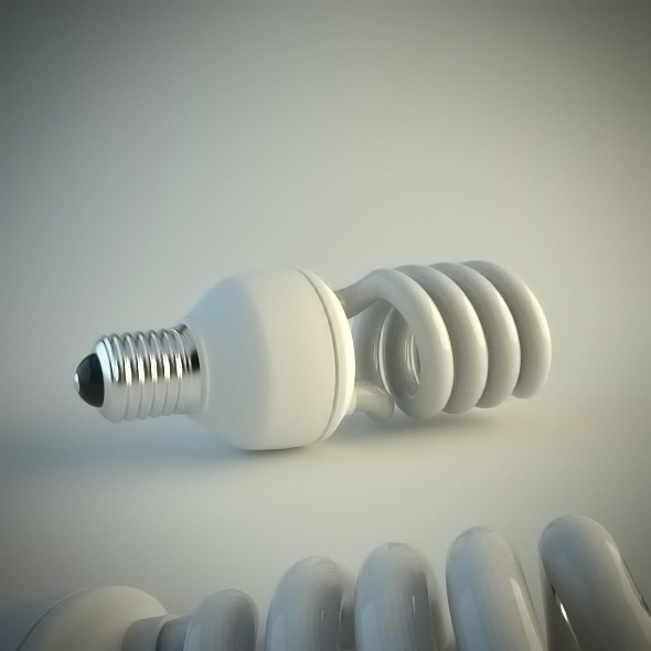Energy Saving Light Bulb - 3DOcean Item for Sale
