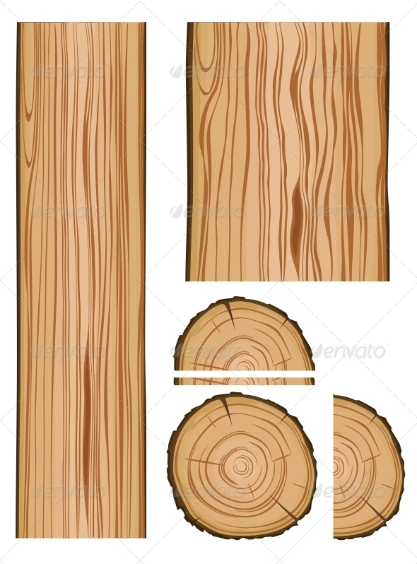GraphicRiver Wood Texture and Parts 4930261