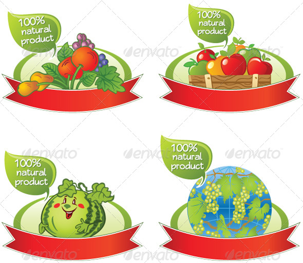 GraphicRiver Natural Food Banners 4913066