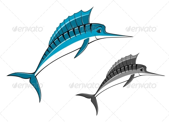 Blue Marlin Fish - Animals Characters