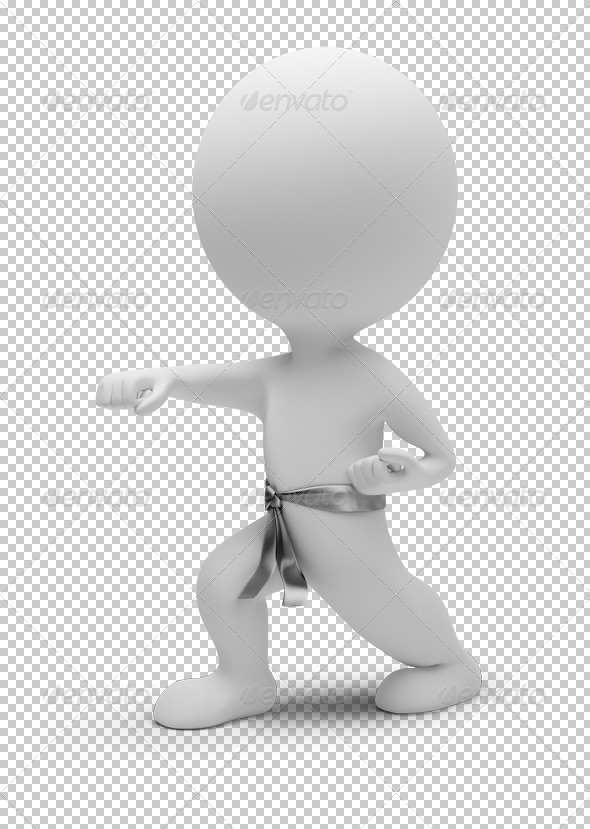 GraphicRiver 3D small people karate 4930334