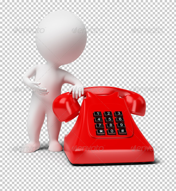 GraphicRiver 3D small people telephone 4930343