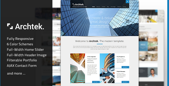 Archtek - Responsive Modern HTML Template - Business Corporate