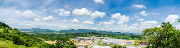 Panorama industrial. - Stock Photo - Images