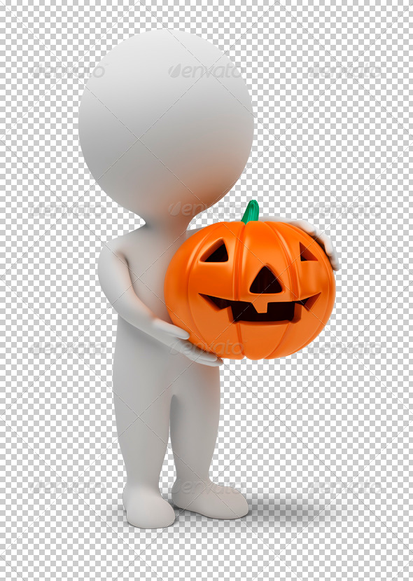 GraphicRiver 3D small people Halloween 4930586