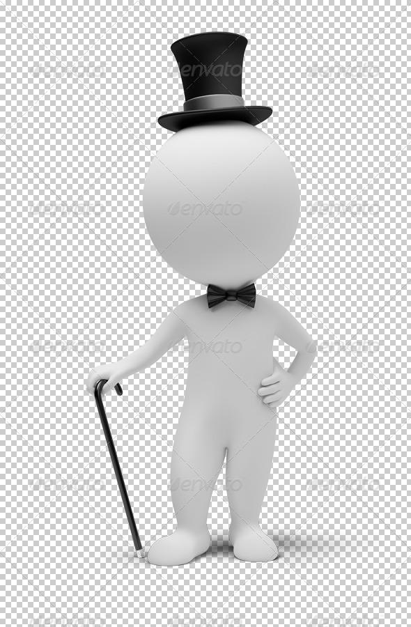 3D small people gentleman