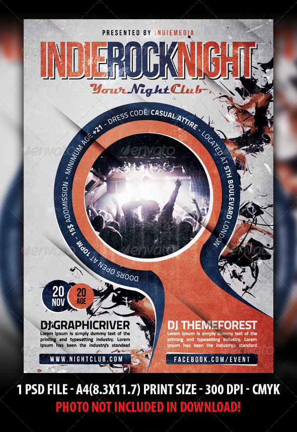GraphicRiver Indie Rock Festival Concert Flyer Poster 4931271