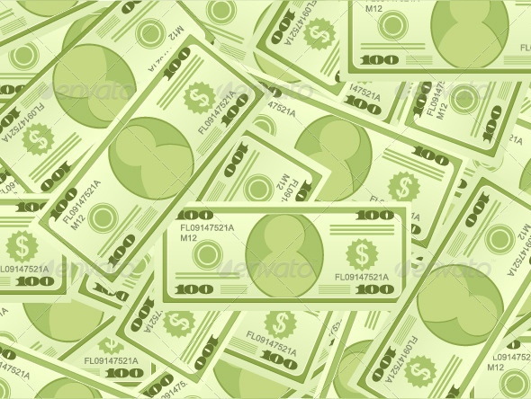 GraphicRiver Dollar Banknotes Background 4931365