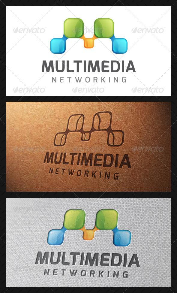 GraphicRiver Multimedia Letter M Logo Template 4931785
