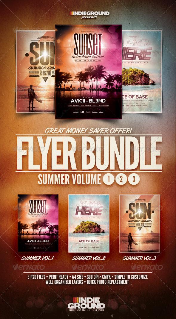 GraphicRiver Summer Flyer Poster Bundle Vol 1-3 4931800