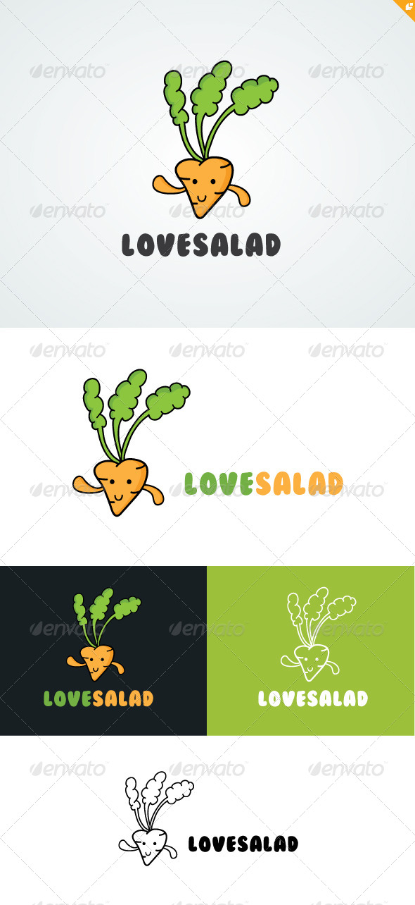 GraphicRiver Love Salad Logo 4921077