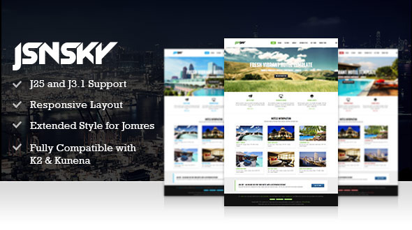ThemeForest JSN Sky Responsive Hotel Theme & Jomres support 4931866