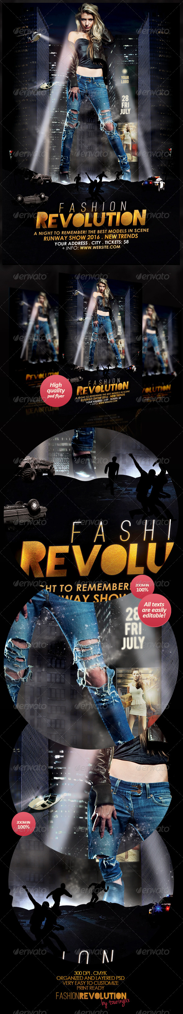 GraphicRiver Fashion Revolution Flyer Template 4858049
