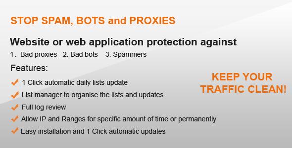 CodeCanyon Bad proxy and bot ban 4931996