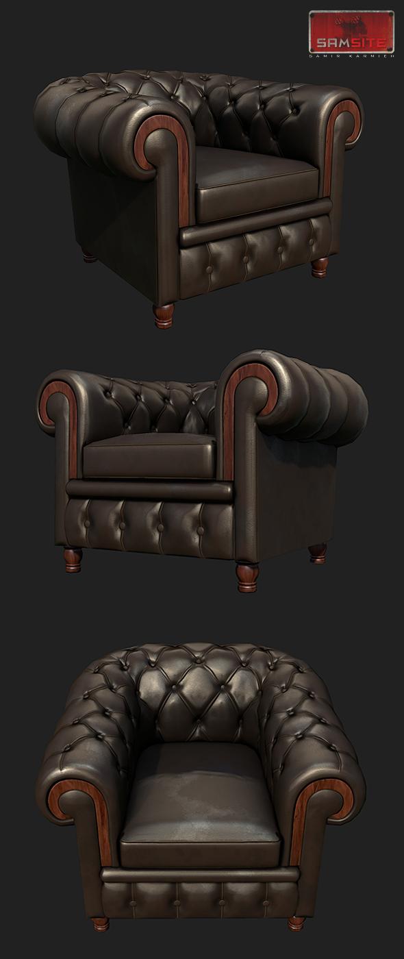3DOcean Leather ArmChair 4932886