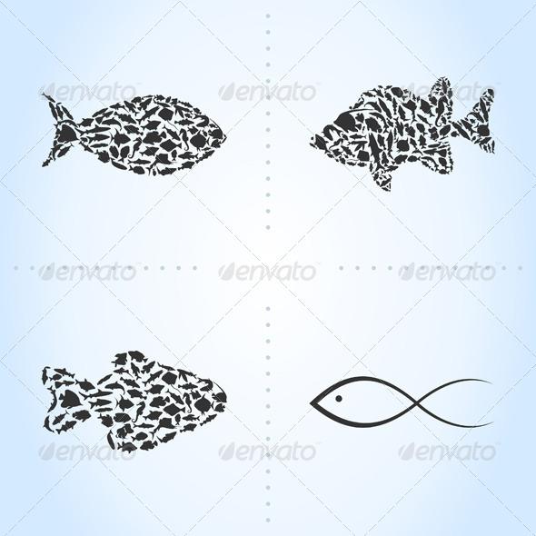 GraphicRiver Fish an Icon 4932905