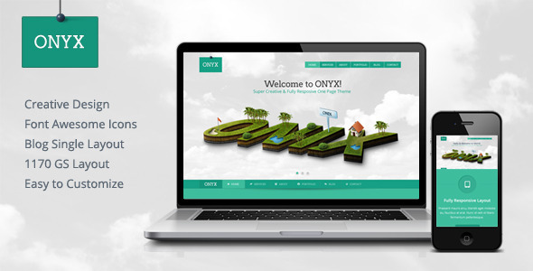 ThemeForest Onyx Creative One Page Theme 4932931