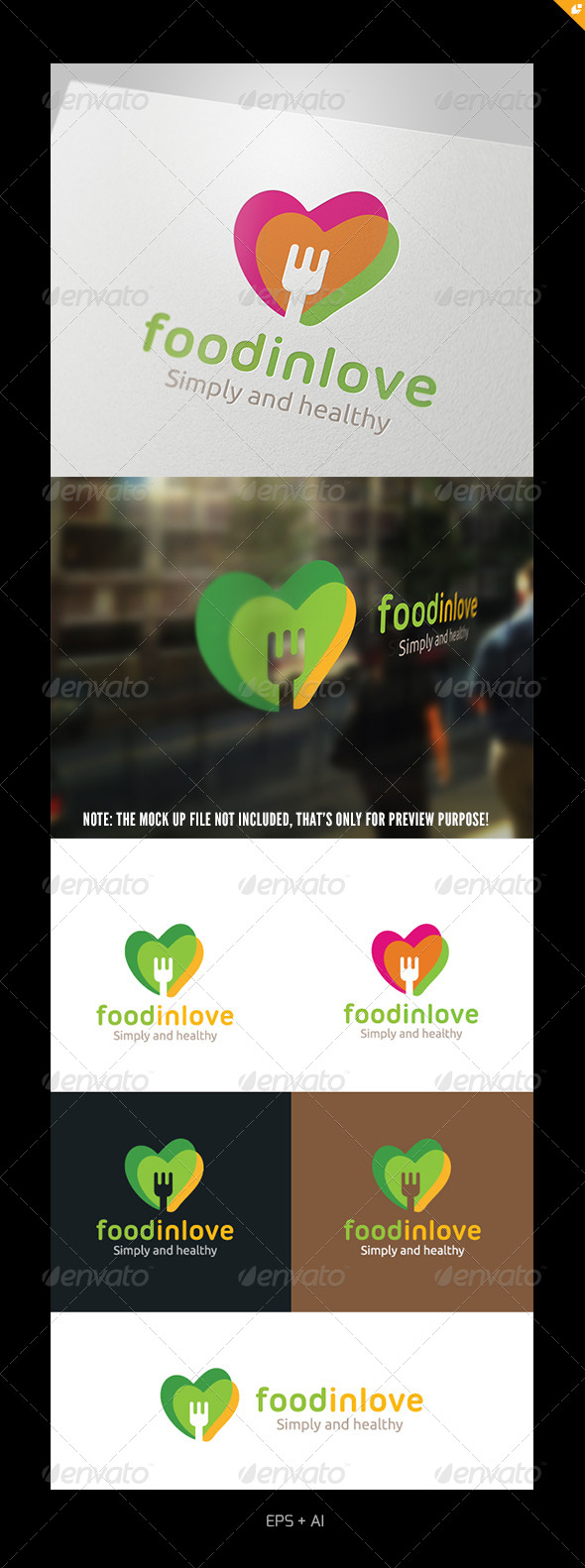 GraphicRiver Food In Love Logo 4933054