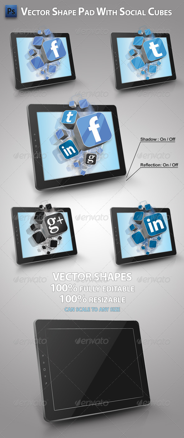 GraphicRiver Pad with Social Cubes 4727601