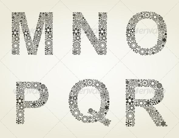GraphicRiver Snow the Alphabet 4933132