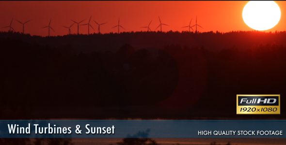 Wind Turbines & Sunset