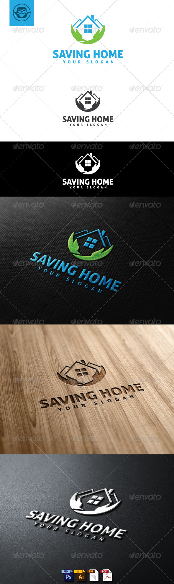 Saving Home Logo Template - Buildings Logo Templates