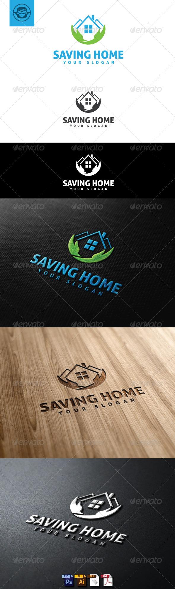 GraphicRiver Saving Home Logo Template 4933742