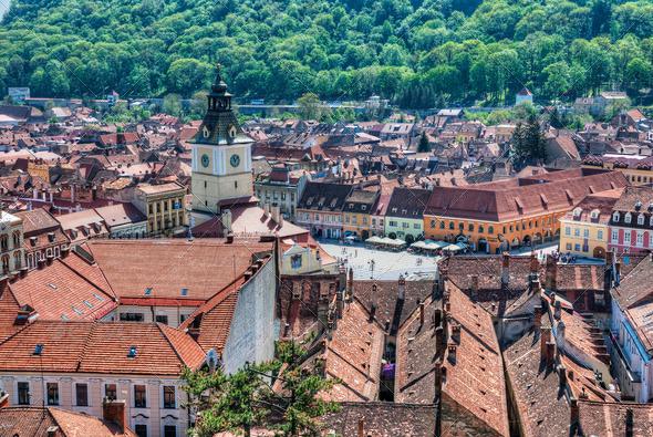 City of Brasov, Romania - Stock Photo - Images