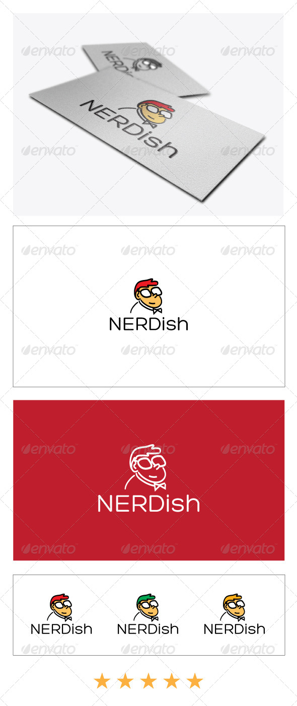 GraphicRiver Nerd Logo Template 4921259