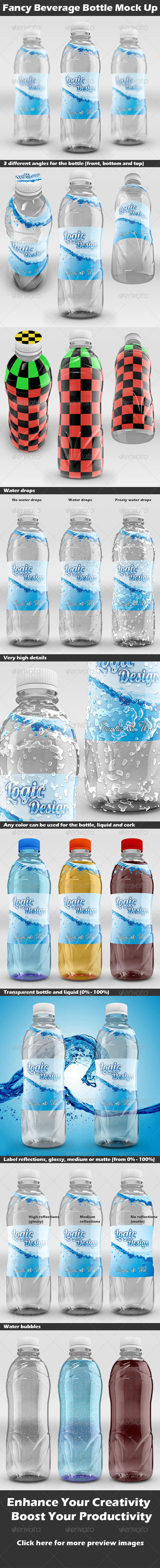 GraphicRiver Fancy Beverage Bottle Mock Up 4933986
