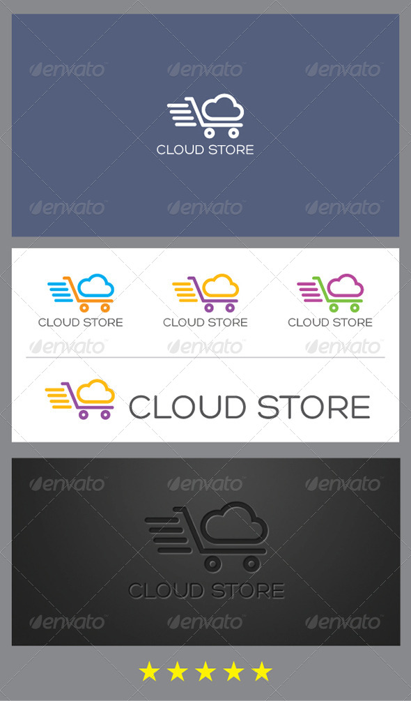 GraphicRiver Cloud Store Logo Template 4920649
