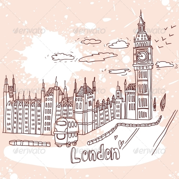 GraphicRiver Big Ben and House of Parliament in London UK 4935258