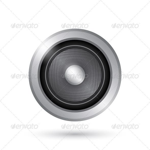 GraphicRiver Audio Speaker Icon 4935380