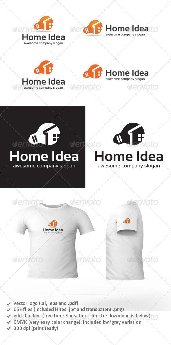 GraphicRiver Home Idea Logo 4935432
