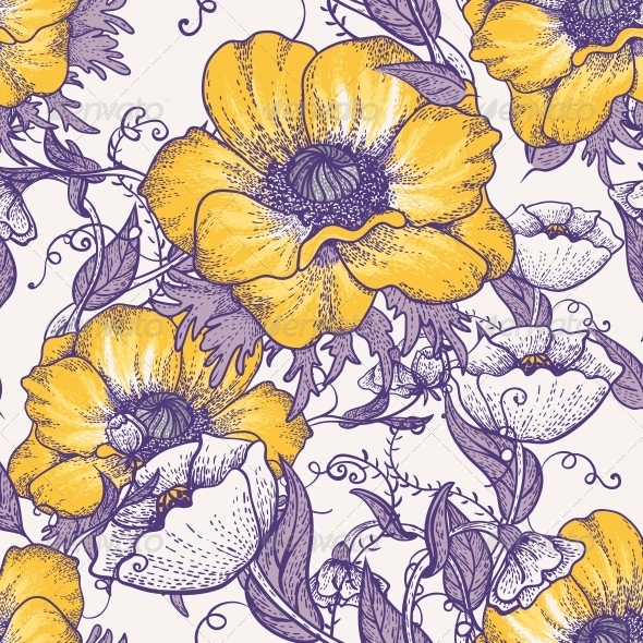 GraphicRiver Beautiful Seamless Floral Pattern 4935462