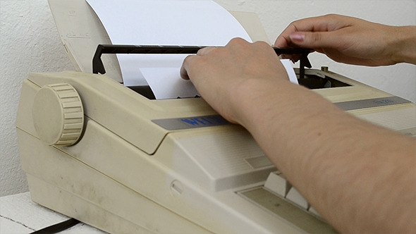 Inserting A Blank Sheet to Typewriter