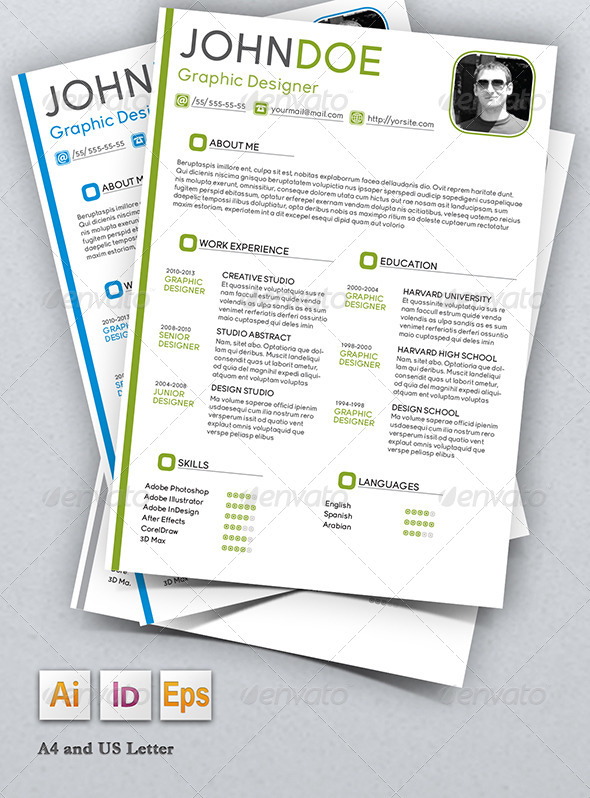 Stylish Resume Graphicriver