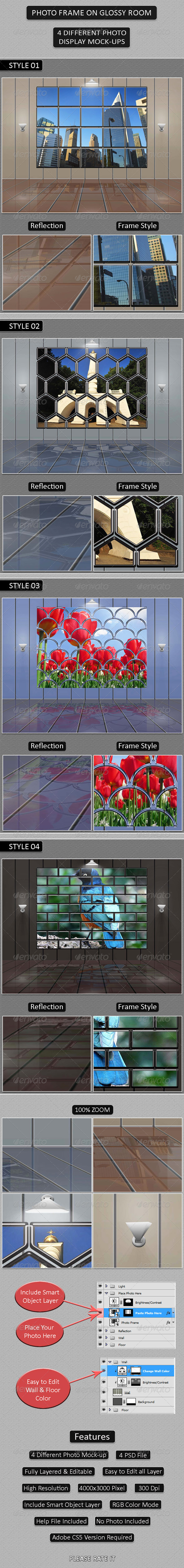 GraphicRiver Photo Frame on Glossy Room 4605434