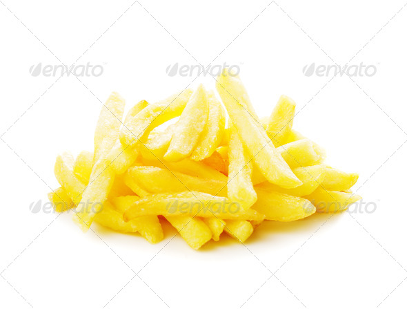 Fried potato isolated - Stock Photo - Images