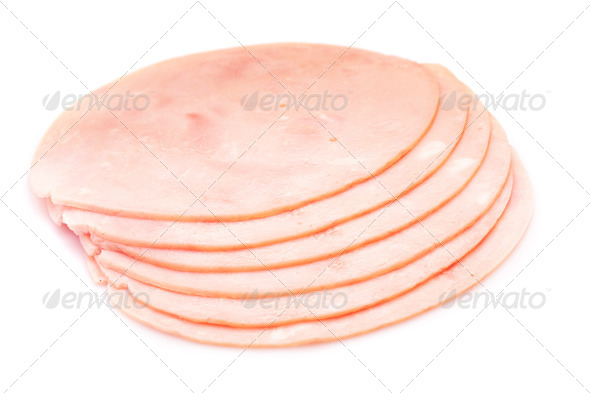 Ham slices - Stock Photo - Images
