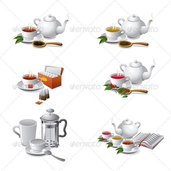 GraphicRiver Tea Set Icons 4936192