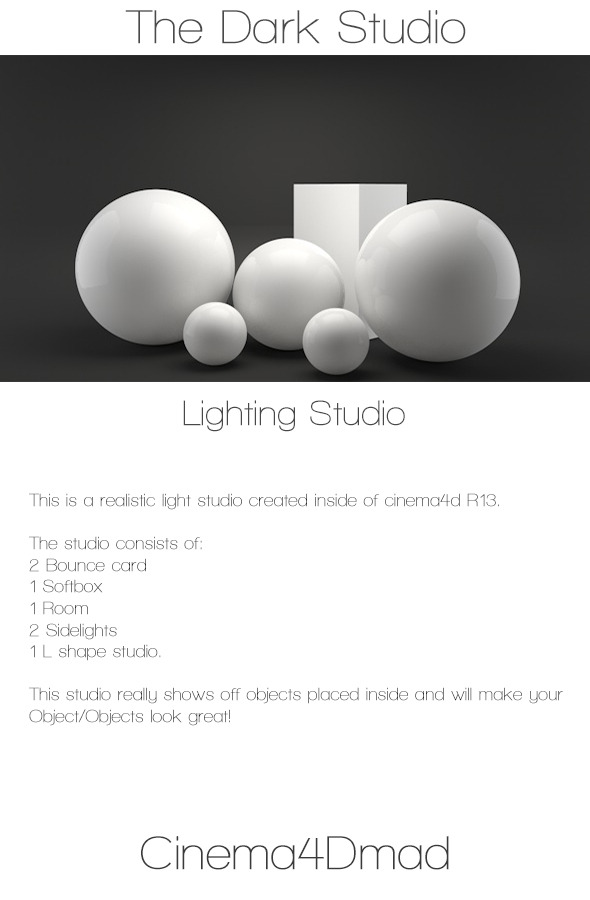 3DOcean The dark studio 4936199