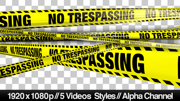Yellow No Trespassing Boundry Tape 5 Videos