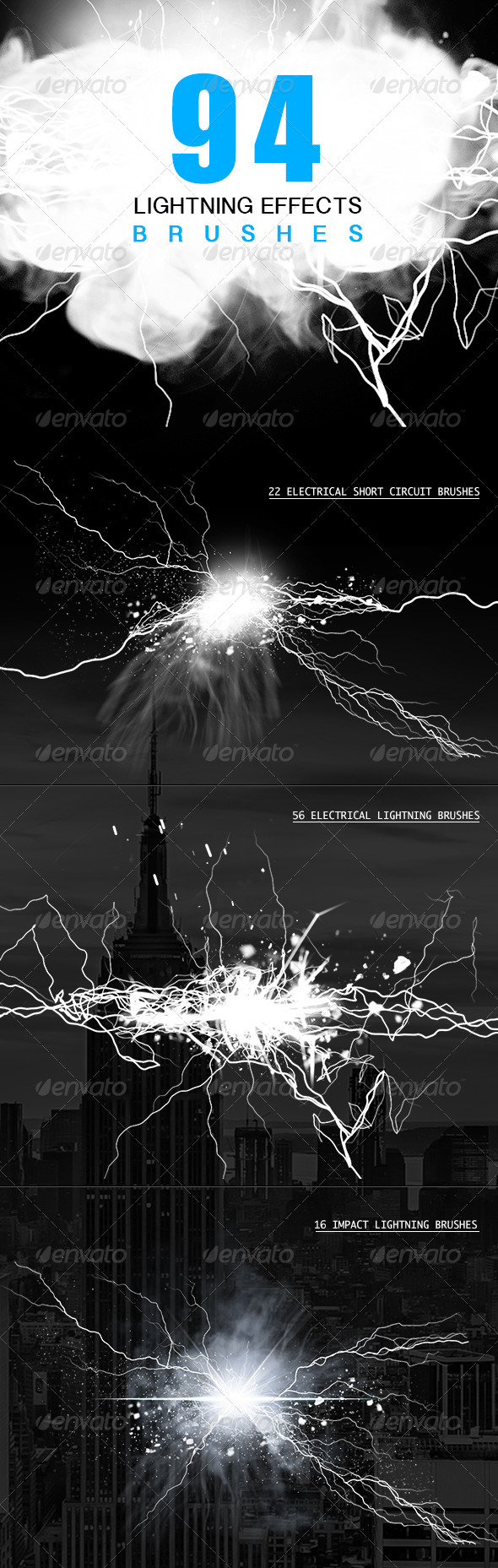 GraphicRiver Electrical Lightning Brushes 4920509