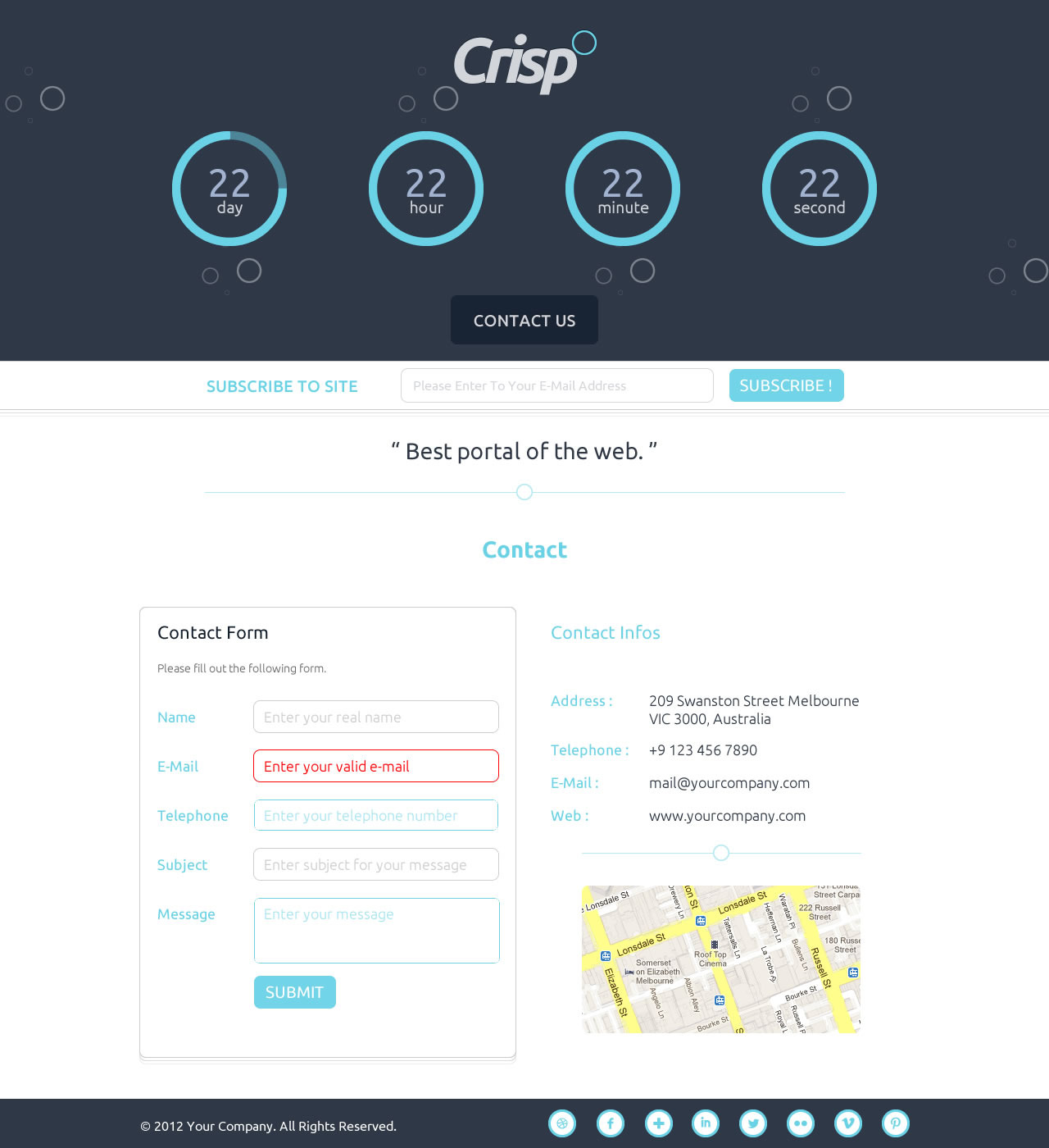 Crispo - Responsive Coming Soon Countdown Template